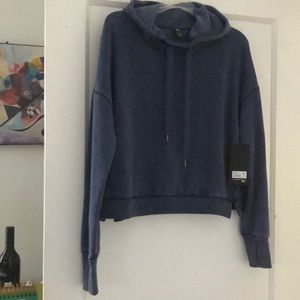 NWT 90Degree by Reflex Vintage Denim hoodie s L
